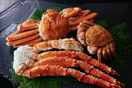タラバ蟹,毛蟹,ズワイガニ3種セットの写真素材 [FYI01757161]