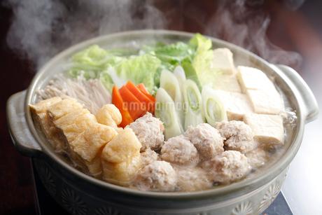 あっさり鶏肉団子鍋の写真素材 [FYI01757407]