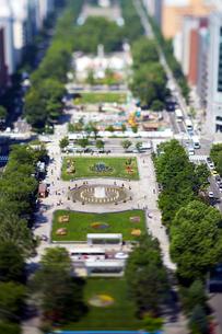 さっぽろテレビ塔から見た大通公園の写真素材 [FYI01757680]
