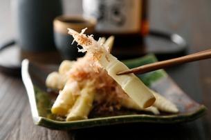 笹タケノコ塩茹アップの写真素材 [FYI01757928]