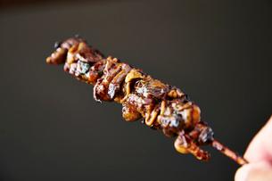 うなぎ肝の串焼き一本の写真素材 [FYI01758503]