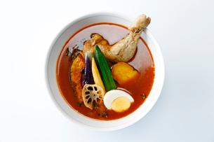 上から見たスープカレーの写真素材 [FYI01758612]