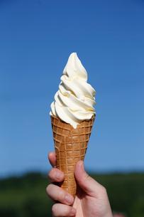北海道ソフトクリームの写真素材 [FYI01758977]