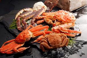 タラバ,毛蟹,ズワイ蟹のイメージの写真素材 [FYI01759177]