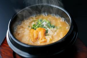 ウニ雑炊の写真素材 [FYI01759492]