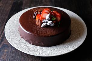 チョコレートケーキの写真素材 [FYI01759592]