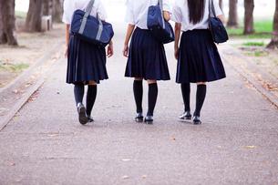 並んで歩く中学生の写真素材 [FYI01759743]