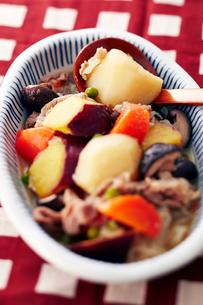 ジャガイモとサツマイモの肉じゃがの写真素材 [FYI01759758]