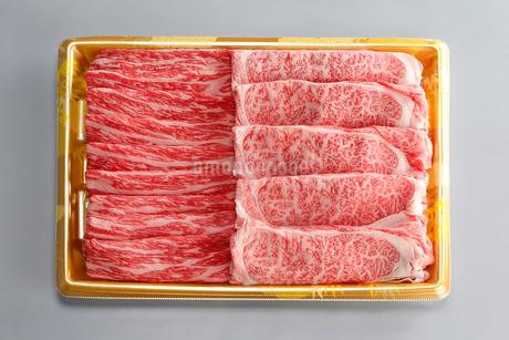 北海道産和牛2種すき焼き用の写真素材 [FYI01759976]