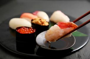 北海道の生寿司の写真素材 [FYI01760093]