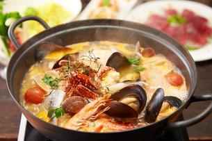 海鮮鍋の写真素材 [FYI01760162]