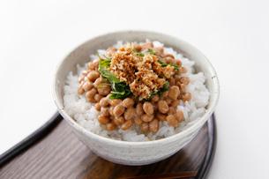 納豆と山わさびご飯の写真素材 [FYI01760217]