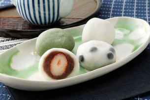 4種の大福餅の写真素材 [FYI01760362]