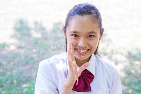 ヤッホーをする中学生の写真素材 [FYI01760512]