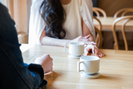 カフェで話をする女性たちの写真素材 [FYI01761014]