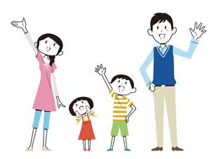 家族立ちポーズのイラスト素材 [FYI01762009]