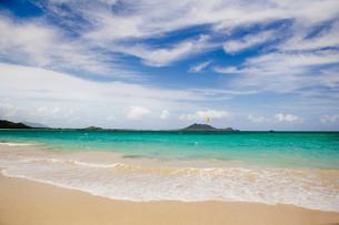 カイルアビーチのカイトサーフィンの写真素材 [FYI01762037]