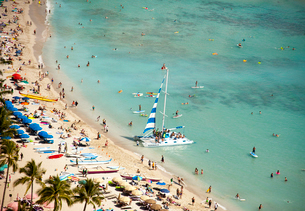 ワイキキビーチの写真素材 [FYI01762071]
