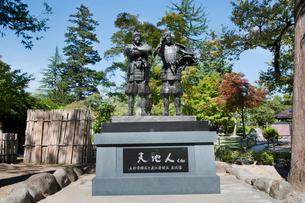 天地人 上杉景勝と直江兼続の主従像の写真素材 [FYI01762074]