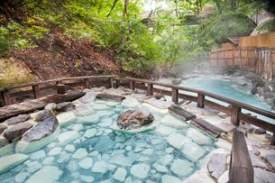蔵王温泉大露天風呂の写真素材 [FYI01762254]