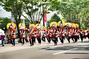 夏まつり仙台すずめ踊りの写真素材 [FYI01762266]