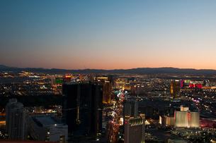 ラスベガス夕景の写真素材 [FYI01762461]