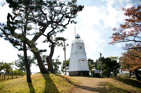 木造六角灯台の写真素材 [FYI01762466]