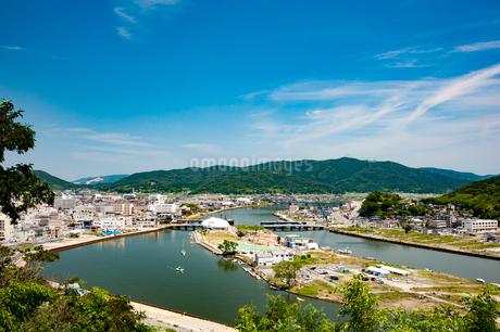 日和山公園から望む旧北上川の写真素材 [FYI01762478]