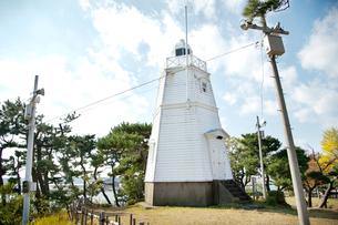 木造六角灯台の写真素材 [FYI01762647]