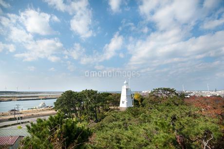 木造六角灯台の写真素材 [FYI01762649]