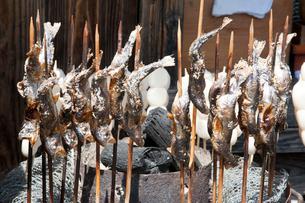大内宿岩魚の塩焼きの写真素材 [FYI01762978]