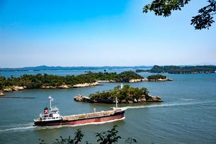 多聞山よりの松島と船の写真素材 [FYI01763131]