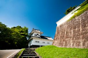 仙台城大手門脇櫓の写真素材 [FYI01763188]