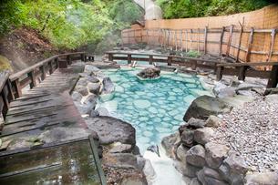 蔵王温泉大露天風呂の写真素材 [FYI01763255]