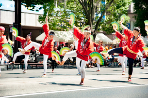 夏まつり仙台すずめ踊りの写真素材 [FYI01763340]