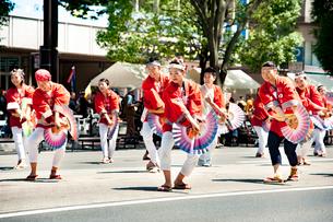 夏まつり仙台すずめ踊りの写真素材 [FYI01763346]