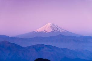 夜明けの富士山の写真素材 [FYI01763356]
