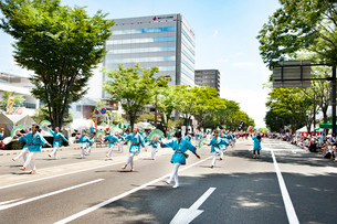 夏まつり仙台すずめ踊りの写真素材 [FYI01763769]