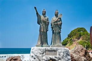 由良海岸八乙女の像の写真素材 [FYI01763880]