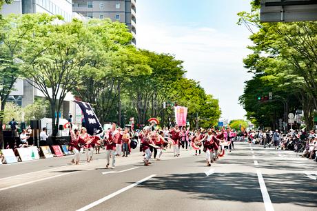 夏まつり仙台すずめ踊りの写真素材 [FYI01763908]