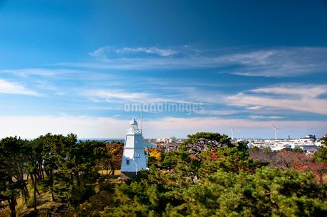 木造六角灯台の写真素材 [FYI01764101]