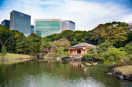 浜離宮恩賜庭園松の御茶屋の写真素材 [FYI01765106]