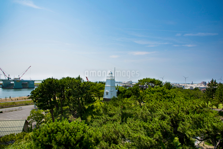 木造六角灯台の写真素材 [FYI01765650]