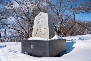 冬の将棋供養塔の写真素材 [FYI01765675]