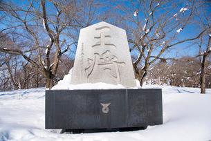 冬の将棋供養塔の写真素材 [FYI01765865]