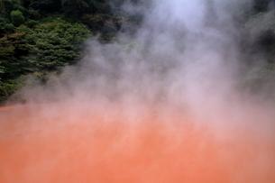 別府温泉地獄めぐり(血の池地獄)の写真素材 [FYI01765965]