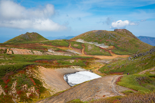 北海道 大雪山 北海岳付近より黒岳 桂月岳を望むの写真素材 [FYI01766238]