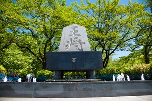天童公園将棋供養塔の写真素材 [FYI01766646]