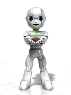 若芽を持つ少年ロボットのイラスト素材 [FYI01772694]