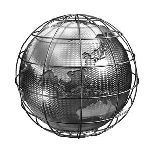 メタル地球アジアのイラスト素材 [FYI01772701]
